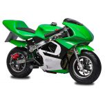 Green GBmoto 40CC 4-Stroke Kids Gas Pocket Bike Mini Motorcycle