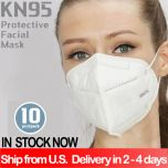 10Pcs 4-Ply KN95 High Quality Anti-Dust Disposable Surgical Medical Salon Earloop Face Mouth Masks facial mask