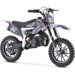 MotoTec Kids 50CC 2-Stroke Gas Dirt Bike (Purple)