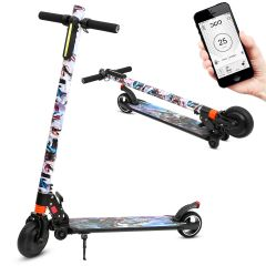 Portable Electric Scooter Rechargeable Folding Scooter for Teens and Adults (King Glory)