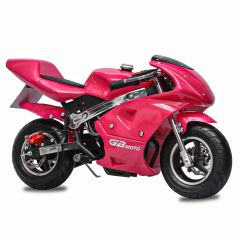 Pink GBmoto 40CC 4-Stroke Kids Gas Pocket Bike Mini Motorcycle