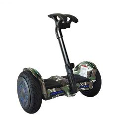 Smart Self-Balancing Electric Scooter with LED light, Portable and Powerful,  Camo