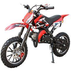 SYX-moto Holeshot Kids 50CC 2-Stroke Gas Dirt Bike (Red)