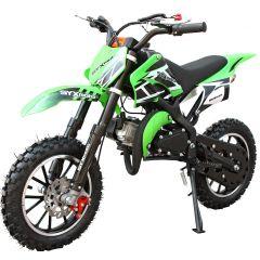 SYX-moto Holeshot Kids 50CC 2-Stroke Gas Dirt Bike (Green)