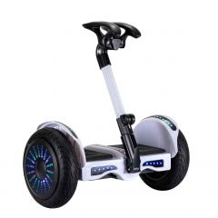 Smart Self-Balancing Electric Scooter with LED light, Portable and Powerful,  White