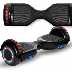 Black 6.5 inch Hoverboard with Bluetooth Speaker & LED Flashing Wheels, Self Balancing Scooter (UL Listed)