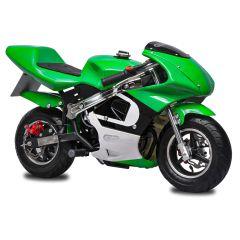 Green GBmoto 40CC 4-Stroke Kids Gas Pocket Bike Mini Motorcycle