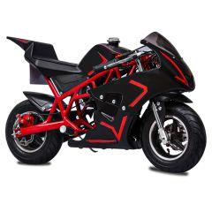 Red Mini Gas Pocket Bike 40CC 4-Stroke Kids Bike Mini Motorcycle