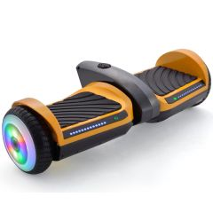 Yellow 6.5 inch Hoverboard with Bluetooth Speaker & LED Flashing Wheels, Self Balancing Scooter (UL Listed)