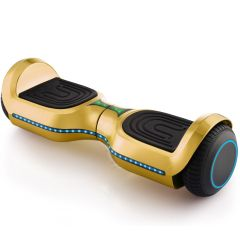 """Chrome Gold 6.5"""" Hoverboard, Bluetooth Hoverboard & LED Flashing Wheels, Self Balancing Scooter (UL Listed)"""