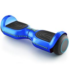 """Chrome Blue 6.5"""" Hoverboard, Bluetooth Hoverboard & LED Flashing Wheels, Self Balancing Scooter (UL Listed)"""