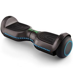 """Chrome Black 6.5"""" Hoverboard, Bluetooth Hoverboard & LED Flashing Wheels, Self Balancing Scooter (UL Listed)"""