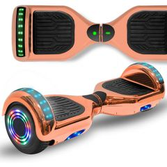 Chrome Rose 6.5 inch Hoverboard with Bluetooth Speaker & LED Flashing Wheels, Self Balancing Scooter (UL Listed)