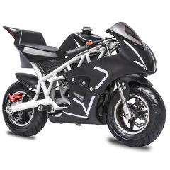 White Mini Gas Pocket Bike 40CC 4-Stroke Kids Bike Mini Motorcycle
