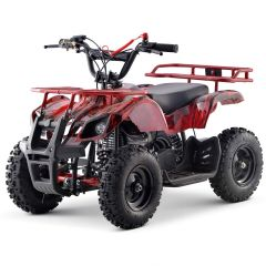 Sonora-G 40cc ATV Gas Powered ATV 4-Stroke Off Road Kids ATV, Kids Quad, Kids 4 Wheelers (Red Flame)