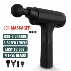 Massage Gun Cordless Handheld Massagers Deep Tissue Percussion Muscle Massager for Pain Relief with Carrying Case (Black)