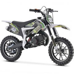 MotoTec Kids 50CC 2-Stroke Gas Dirt Bike (Green)
