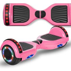 Pink 6.5 inch Hoverboard with Bluetooth Speaker & LED Flashing Wheels, Self Balancing Scooter (UL Listed)