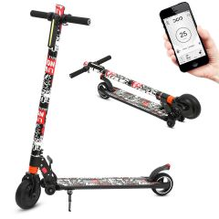 Portable Electric Scooter Rechargeable Folding Scooter for Teens and Adults (Pirate)