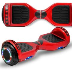 Red 6.5 inch Hoverboard with Bluetooth Speaker & LED Flashing Wheels, Self Balancing Scooter (UL Listed)