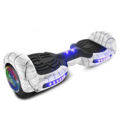 Neja X White Spider Hoverboard with Bluetooth Speaker & LED Flashing Wheels (UL Listed)