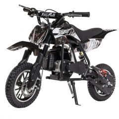 Black 50cc Kids Dirt Bike 2-Stroke Gas Dirt Bike